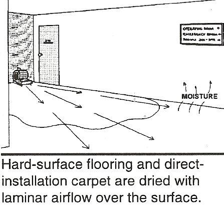 carpet drying diagram